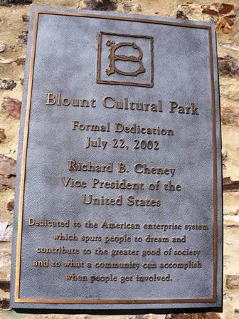 17 blount dedication plaque