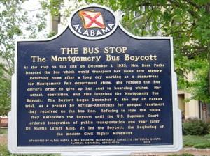 19 bus boycott sign