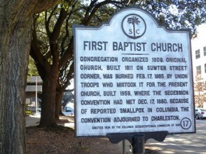 17 First Baptist marker c