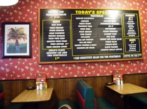 21 menu board