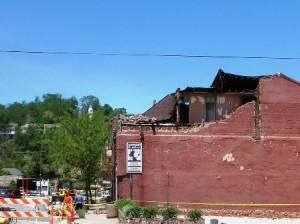21 building damaged