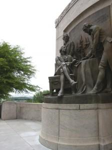 23 signing statue and bridge