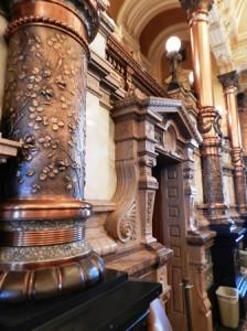 11 copper columns