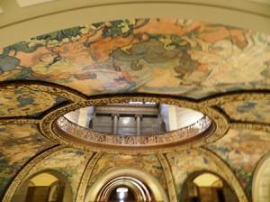 30 murals overhead