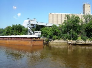 15 barge and elevator
