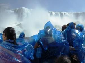 25 blue ponchos