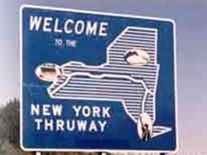 25 thruway sign