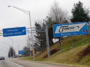 16 Tennessee Welcome Sign