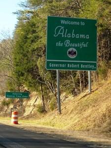18 Alabama sign