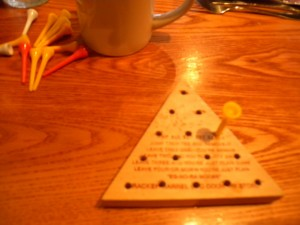 21 Genius puzzle at Cracker Barrel