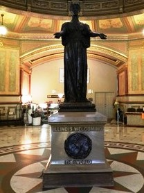 Springfield Capitol Welcoming Statue