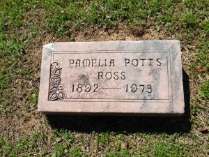 Pamelia Potts Ross Gravestone