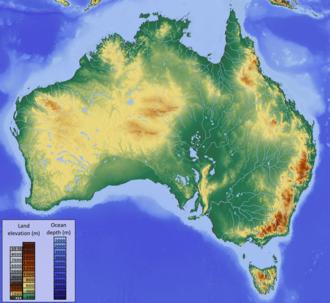 23.australia topographic map