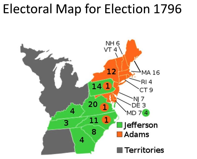 Electoral Map for Election 1796