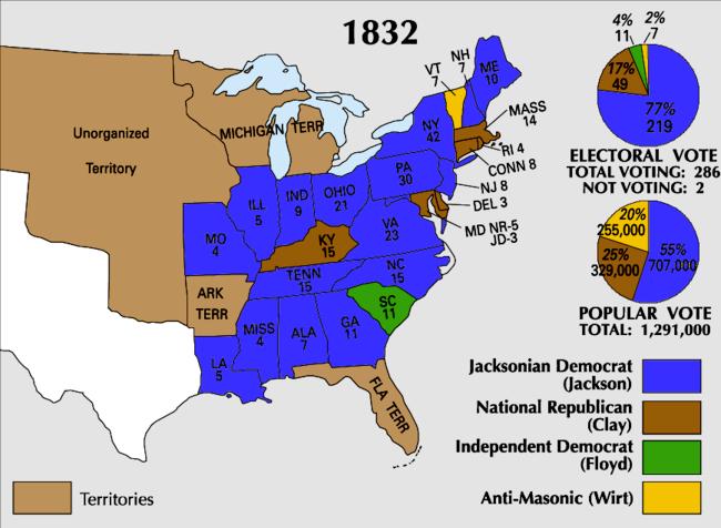 09.26. 1832 electoral votes