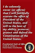 Presidential oath of office